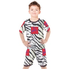 Striped By Traci K Kids  Tee And Shorts Set