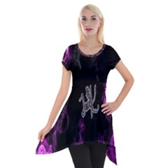 Fushion By Traci K Short Sleeve Side Drop Tunic
