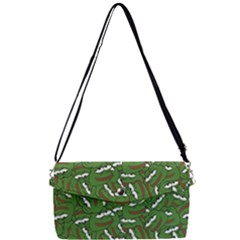 Pepe The Frog Face Pattern Green Kekistan Meme Removable Strap Clutch Bag by snek