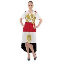 Flag Of Egypt Front Wrap High Low Dress