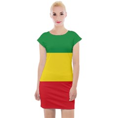 Flag Of Ethiopia Cap Sleeve Bodycon Dress