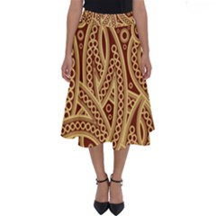 Fine Pattern Perfect Length Midi Skirt by Sobalvarro