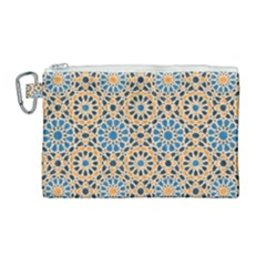 Motif Canvas Cosmetic Bag (large) by Sobalvarro
