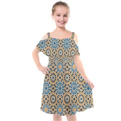 Motif Kids  Cut Out Shoulders Chiffon Dress by Sobalvarro