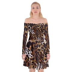 Cheetah By Traci K Off Shoulder Skater Dress