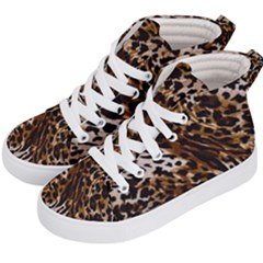 Cheetah By Traci K Kids  Hi-top Skate Sneakers by tracikcollection