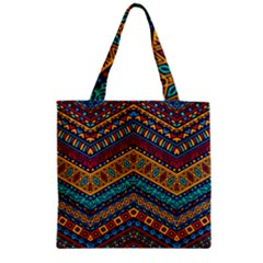 Untitled Zipper Grocery Tote Bag by Sobalvarro