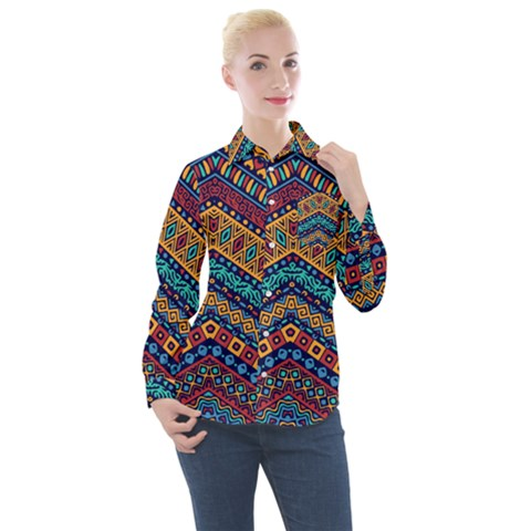 Untitled Women s Long Sleeve Pocket Shirt by Sobalvarro