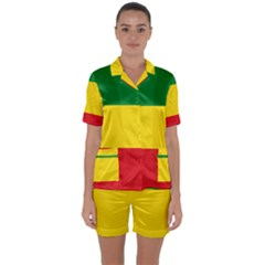Current Flag Of Ethiopia Satin Short Sleeve Pyjamas Set by abbeyz71