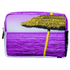 Pop Art Beach Umbrella Make Up Pouch (medium) by essentialimage