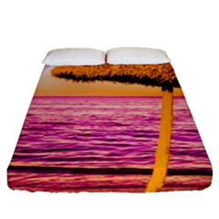 Pop Art Beach Umbrella  Fitted Sheet (queen Size) by essentialimage