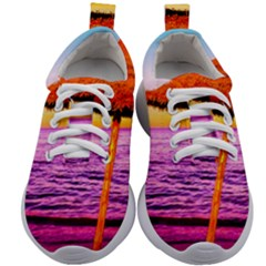 Pop Art Beach Umbrella  Kids Athletic Shoes by essentialimage
