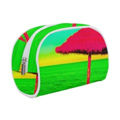 Pop Art Beach Umbrella Makeup Case (small) by essentialimage