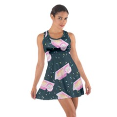Dunkaroos Funfetti Print Dark Blue 1 Cotton Racerback Dress