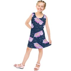 Dunkaroos Funfetti Print Dark Blue 1 Kids  Tunic Dress