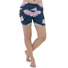 Dunkaroos Funfetti Print Dark Blue 1 Lightweight Velour Yoga Shorts