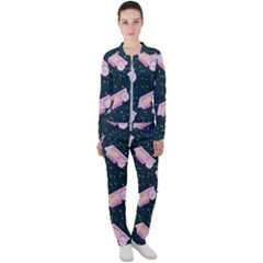 Dunkaroos Funfetti Print Dark Blue 1 Casual Jacket And Pants Set