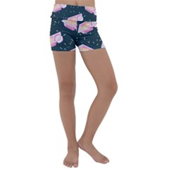 Dunkaroos Funfetti Print Dark Blue 1 Kids  Lightweight Velour Yoga Shorts
