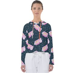 Dunkaroos Funfetti Print Dark Blue 1 Women s Slouchy Sweat