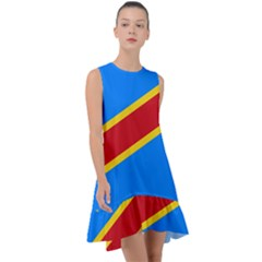 Flag Of The Democratic Republic Of The Congo Frill Swing Dress