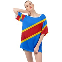 Flag Of The Democratic Republic Of The Congo, 2003 2006 Oversized Chiffon Top