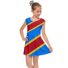 Flag Of The Democratic Republic Of The Congo, 1997-2003 Kids  Cap Sleeve Dress