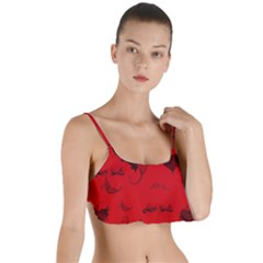 Wonderful Pattern Of Hearts Layered Top Bikini Top