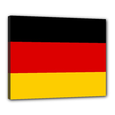 Flag Of Germany Canvas 20  X 16  (stretched) by abbeyz71