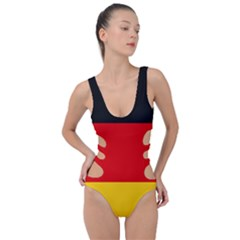Flag Of Germany Side Cut Out Swimsuit