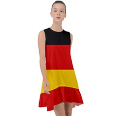 Flag Of Germany Frill Swing Dress