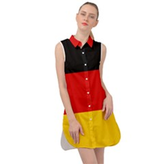 Flag Of Germany Sleeveless Shirt Dress by abbeyz71