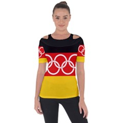 Olympic Flag Of Germany, 1960 1968 Shoulder Cut Out Short Sleeve Top