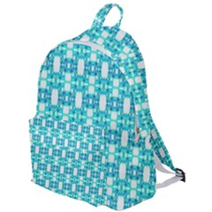 Teal White  Abstract Pattern The Plain Backpack by BrightVibesDesign