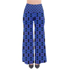 Blue Black Abstract Pattern So Vintage Palazzo Pants
