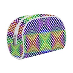 Colorful Circle Abstract White Purple Green Blue Makeup Case (small)