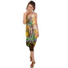 Cute Flying Fairy In The Night Waist Tie Cover Up Chiffon Dress