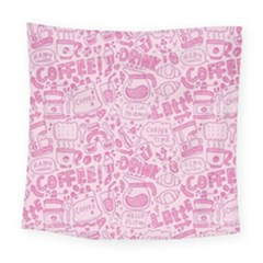 Coffee Pink Square Tapestry (large) by Amoreluxe