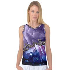 Wonderful Floral Design Women s Basketball Tank Top by FantasyWorld7