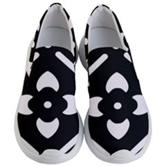 Pattern Flower Black Women s Lightweight Slip Ons