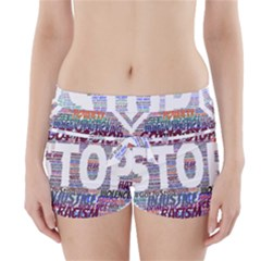 Human Trafficking In Blue Classic Logo Final Boyleg Bikini Wrap Bottoms by gottostop