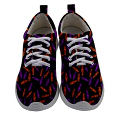 Halloween Candy On Black Women Athletic Shoes by bloomingvinedesign