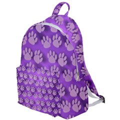 Pattern Texture Feet Dog Purple The Plain Backpack by Jojostore