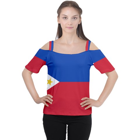 Philippines Flag Filipino Flag Cutout Shoulder Tee by FlagGallery