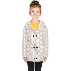Pattern Line Background Wallpaper Kids  Double Breasted Button Coat