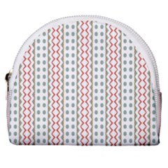 Pattern Line Background Wallpaper Horseshoe Style Canvas Pouch