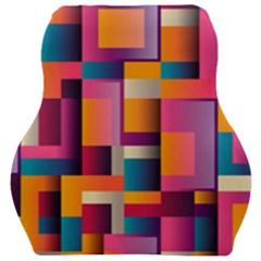 Abstract Background Geometry Blocks Car Seat Velour Cushion