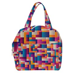 Abstract Geometry Blocks Boxy Hand Bag