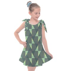 Texture Triangle Kids  Tie Up Tunic Dress