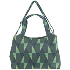 Texture Triangle Double Compartment Shoulder Bag by Alisyart