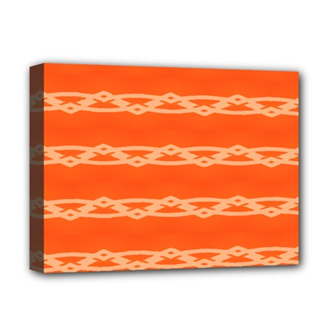 Pattern Orange Deluxe Canvas 16  X 12  (stretched)